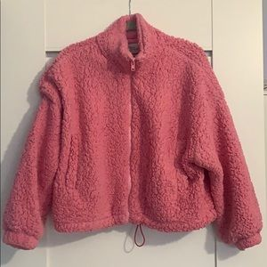 Urban Outfitters cropped Sherpa jacket